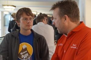 Johannes Kugler (BrewAge) mit proBier-Blogger Martin Voigt