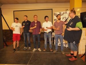 Craftbierfest Organisator Micky Klemsch verabschiedet die 5 WM Teilnehmer