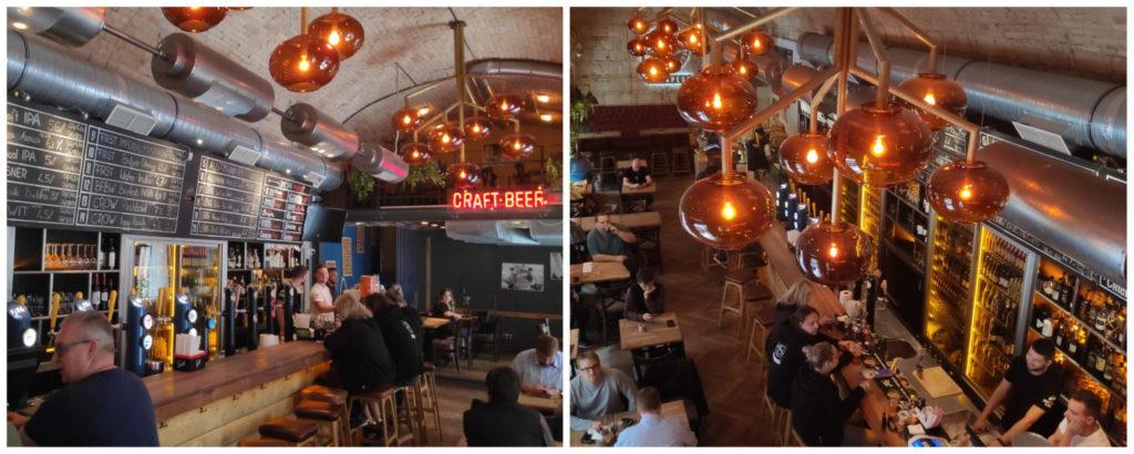 Das First Craft Beer & BBQ in der Innenstadt