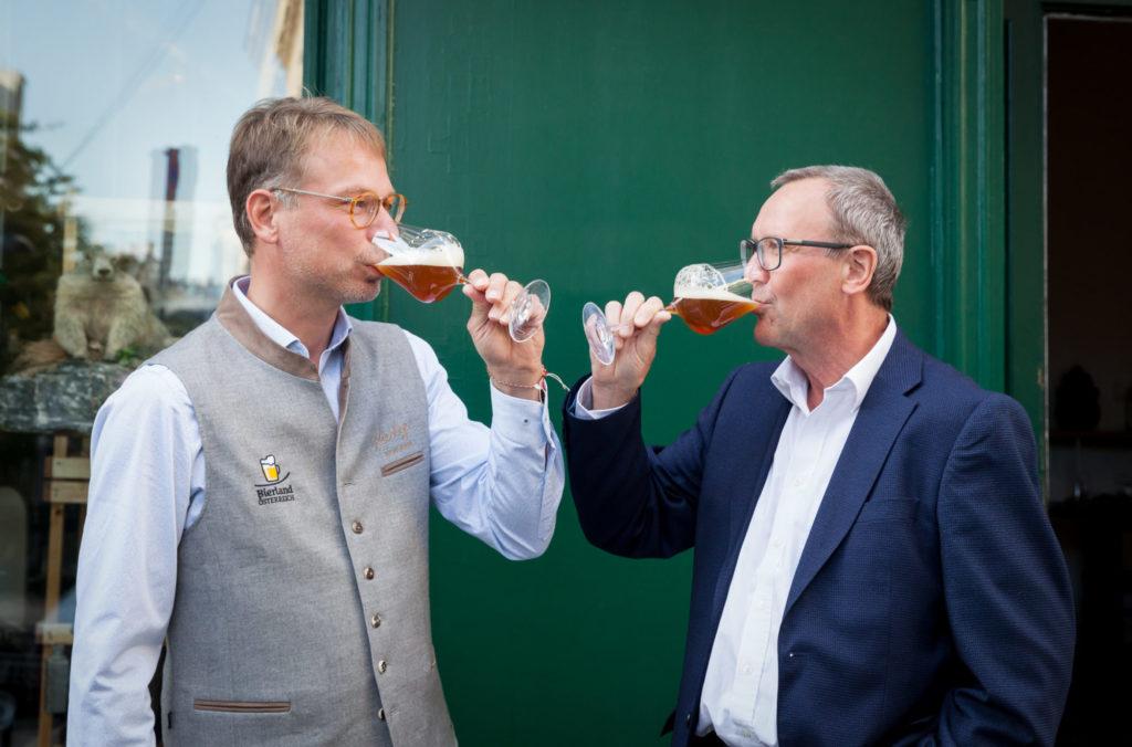 Rudolf Freidhager und Axel Kiesbye