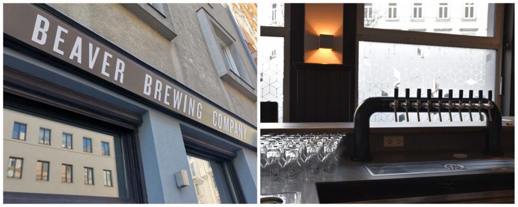 Außenansicht und Schank der Beaver Brewing Company 1050