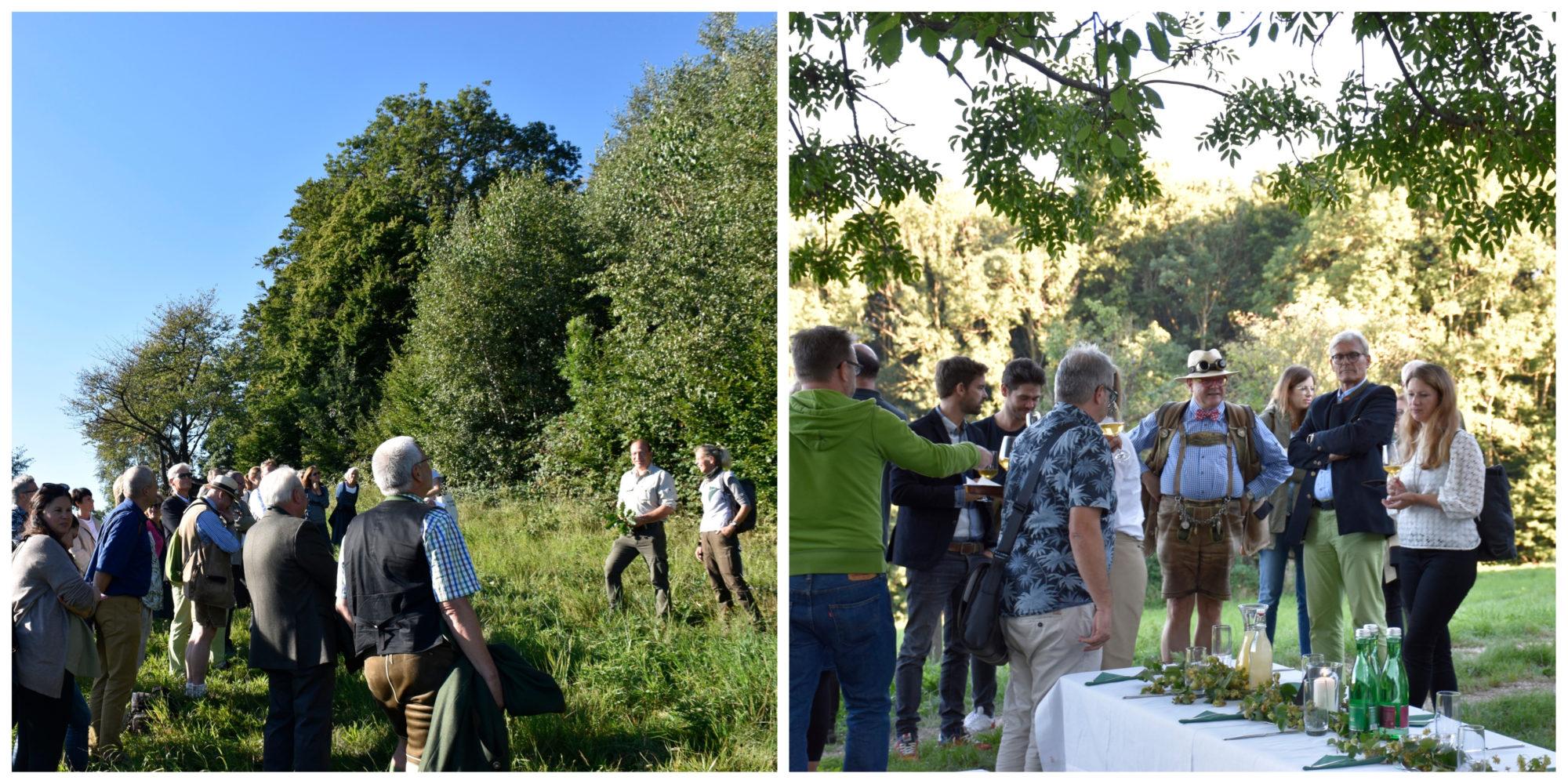 Waldspaziergang und Empfang bei der Präsentation