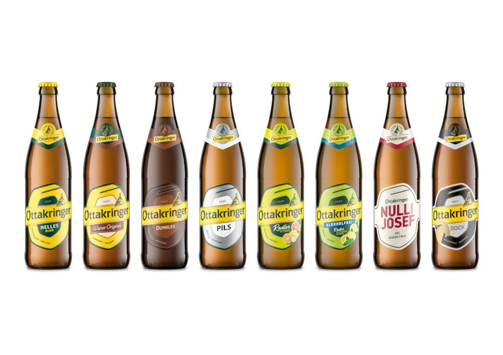 Die Biere von Ottakringer in der neuen Mehrwegflasche.