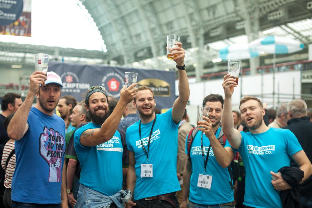Eine Biervereinigung auf dem GBBF 2017.