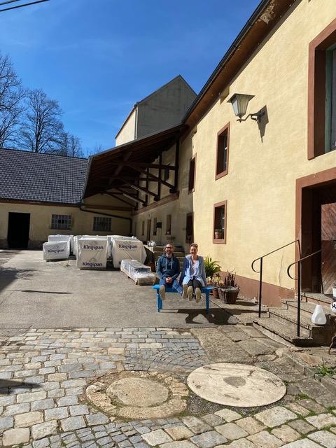 Evelyn Bäck und Gwaël Gauthier die HopfenspinnerInnen.