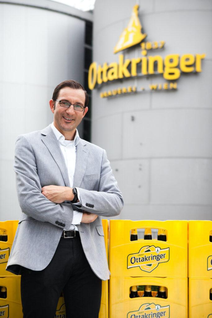 Tobias Frank, der Geschäftsführer der Ottakringer Brauerei.