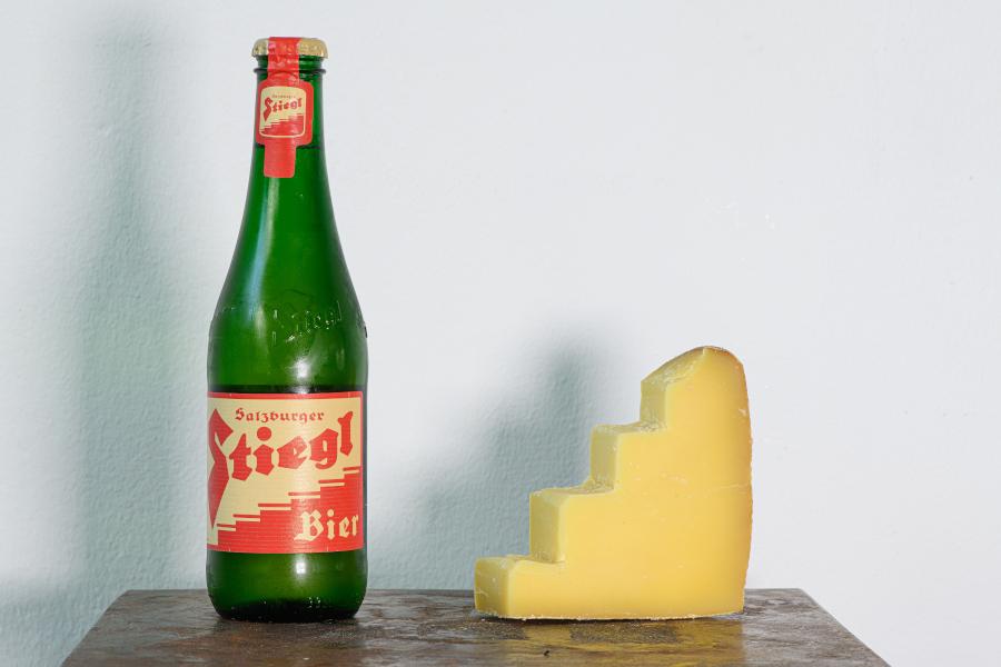 Foodpairing Jause mit Bier und Käse.